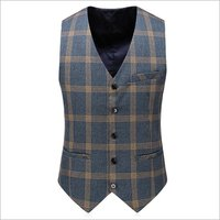 Mens 3 Piece Checked Suit