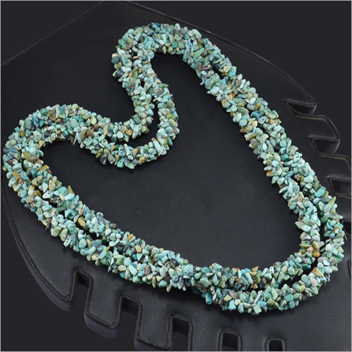 Womens Beaded Turquoise Long Necklace