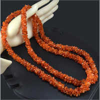 Womens Beaded Carnelian Long Necklace