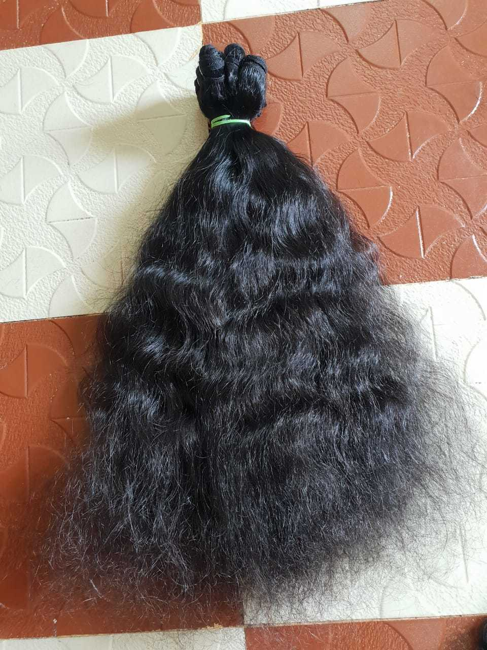 Raw Curly Weft Hair
