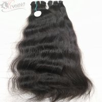 Wholesale 9a Grade Black Wavy Indian Remy Human
