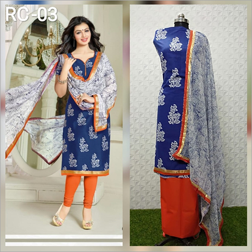 Ladies Raw Silk Unstitched Suit