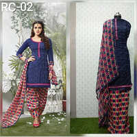 Ladies Printed Unstitched Suit