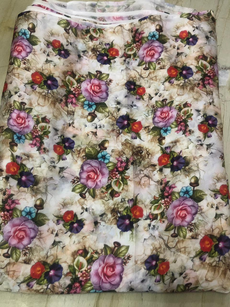 Polyester Fancy Digital Printed Fabric
