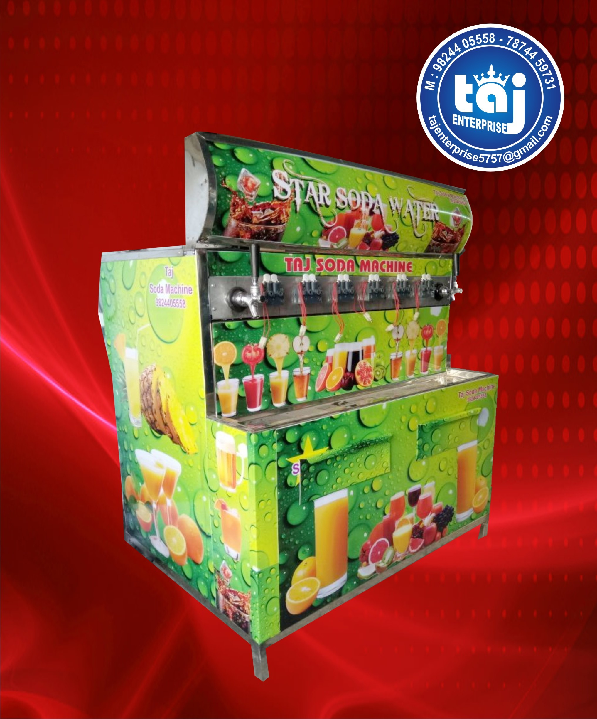 6 Valve Soda Beverage Dispenser