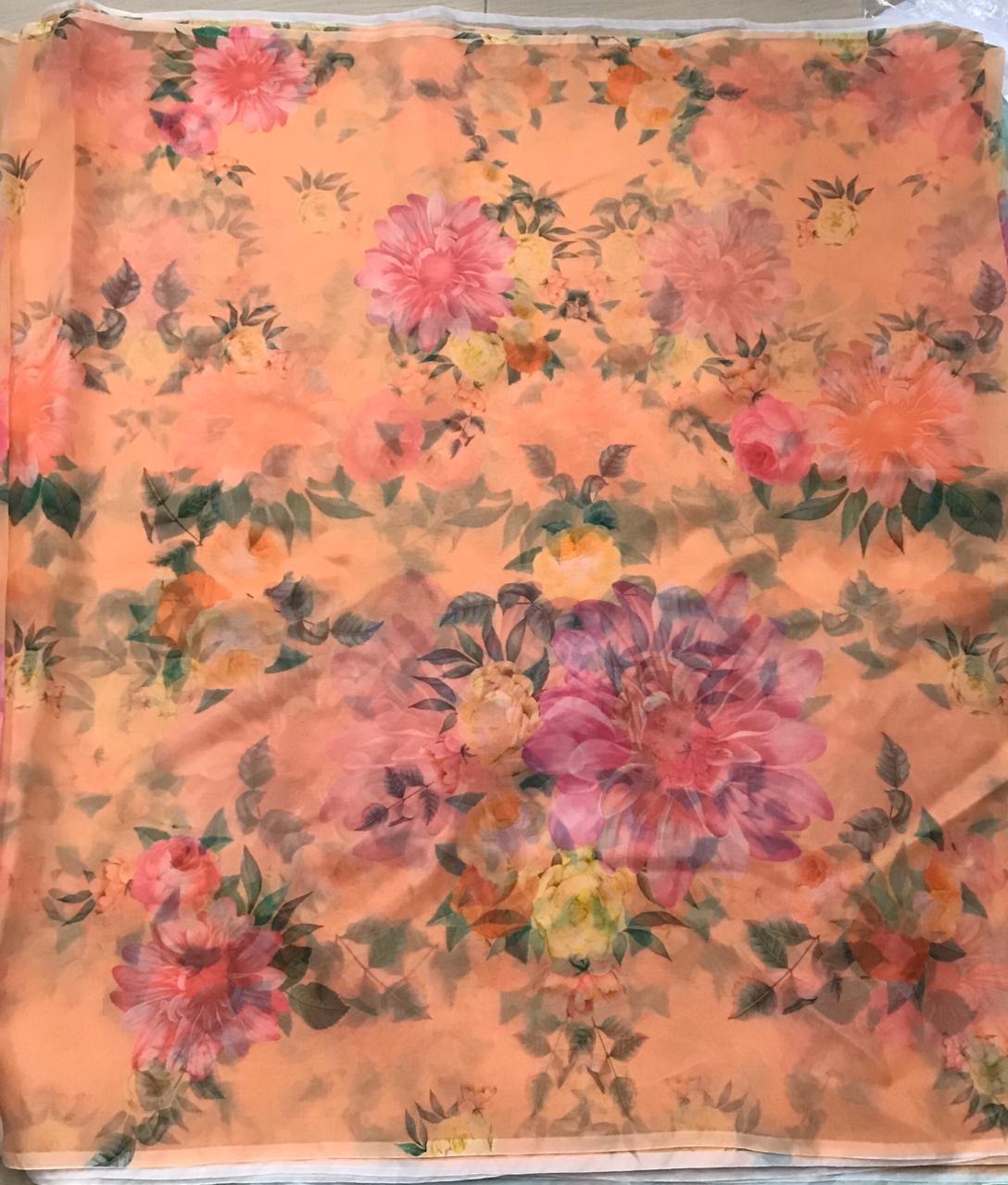 French Crepe Digital Printed Fabric