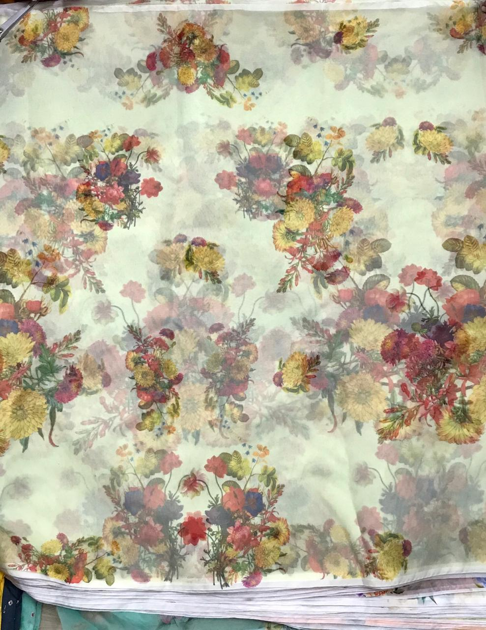 French Crepe Digital Printed Fabric