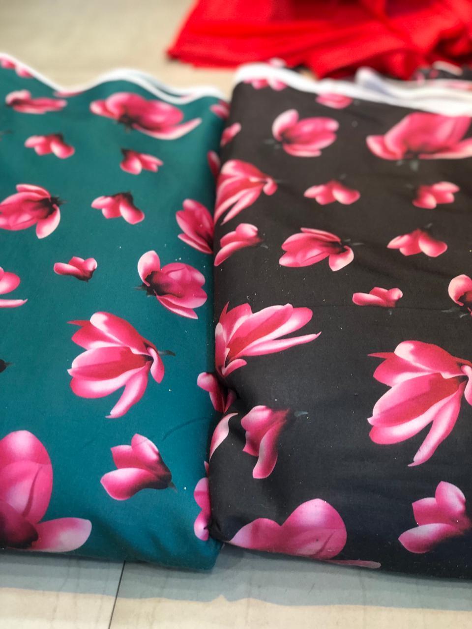 Designer Multicolor  Digital Printed Fabric
