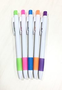 Spring Solid Grip Retractable Ball Pen