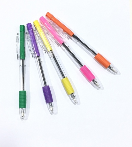 Spring Trans Grip Retractable Ball Pen