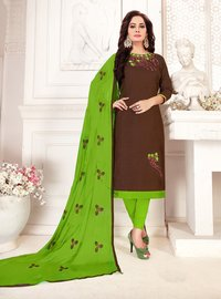 Fancy Cotton Embroidered Dress Material