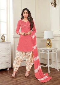 Ethnic Banarasi Cotton Dress Material