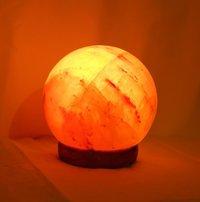 Rock Salt Globe Lamp