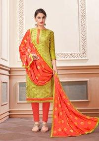 Banarasi Silk Designer Churidar Salwar Suit