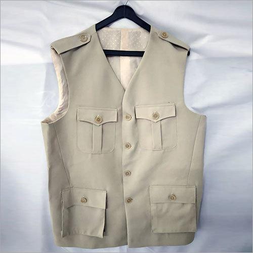 Sleeveless Men Solid Jacket