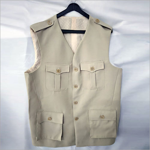 Sleeveless Men Solid Jacket