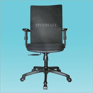 Mid-Back Office Chair (With Adjustable Armrest