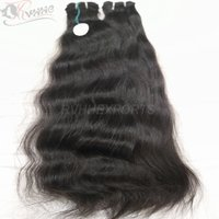 Stock Human Hair Indian Remy Hair Extension Wavy