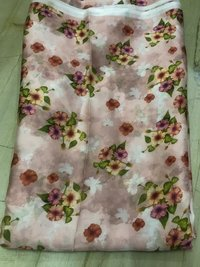 Aasam silk digital printed fabric