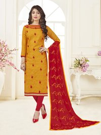 Women's Jacquard Embroidered Dress Material