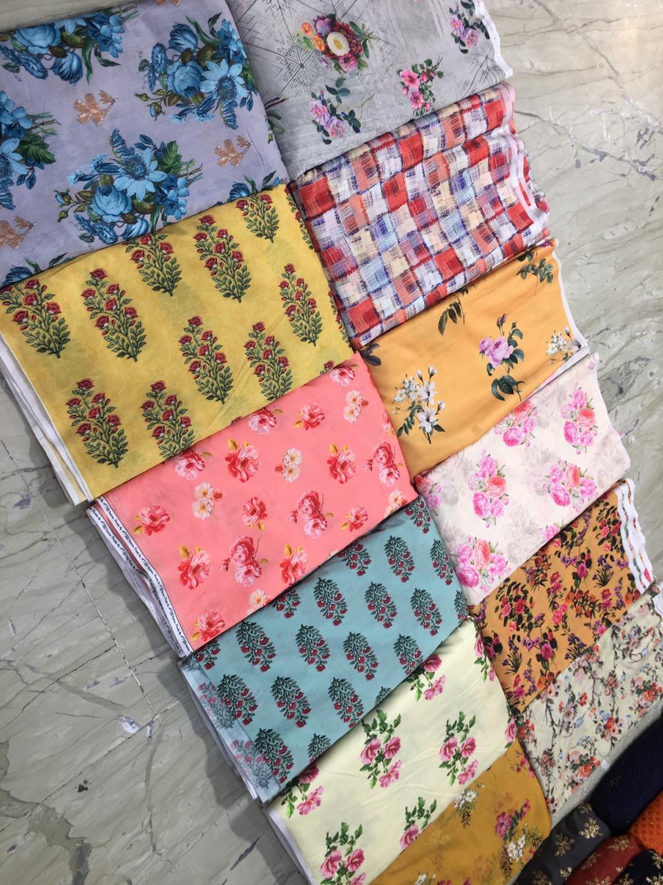 Georgette Digital Printed Fabric
