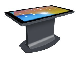 32 inch indoor multipoint IR touchscreen game table with display touch