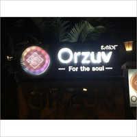 Back light glow sign board