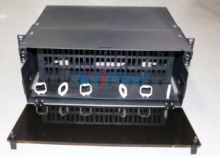 4U Slidable Fiber Optic Patch Panel for MTP / MPO Fiber Cassette Module