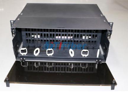 4U Slidable Fiber Optic Patch Panel for MTP / MPO Fiber Cassette Module