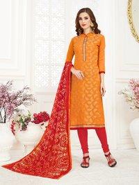 Jacquard Banarasi Unstitched Salwar Suit