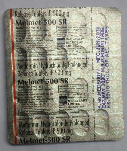 Metformin hydrolcloride prolonged release tablets