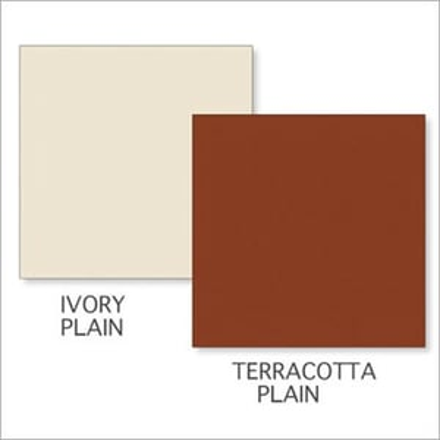 Ivory Plain-Terracotta Plain Tile