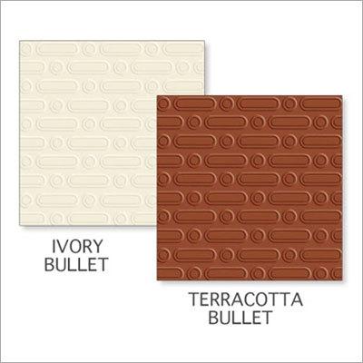 Ivory Bullet-Terracotta Bullet Tiles