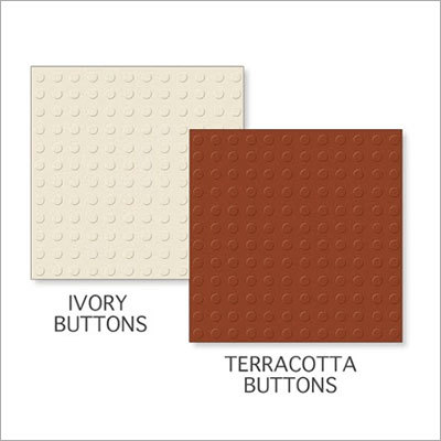 Ivory Buttons-Terracotta Buttons Tiles