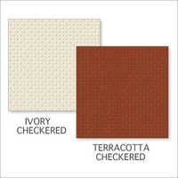 Ivory Checkered-Terracotta Checkered Tiles