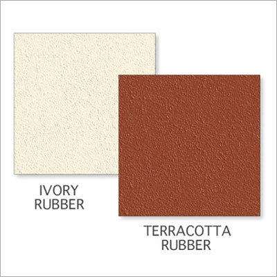 Ivory Rubber-Terracotta Rubber Tile
