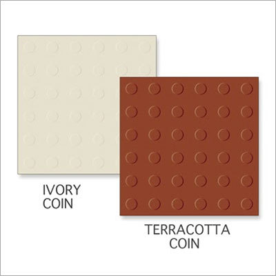 Ivory Coin-Terracotta Coin Tiles