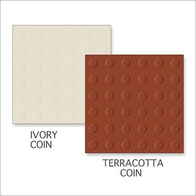 Ivory Coin-Terracotta Coin Tiles