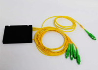 Single Mode Fiber Splitter 1 X 4 PLC Fibre Optic Splitter With G652D G657A1 G657A2 Fiber Optic Cable