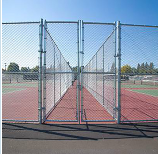 Aluminum-Coated Chain-Link Fence Fabric