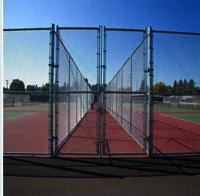 Aluminum-Coated Chain-Link Fence Fabric
