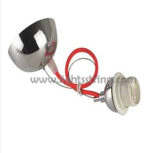 Aluminium lamp holder with cable