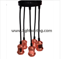 Aluminium lamp holder with wire
