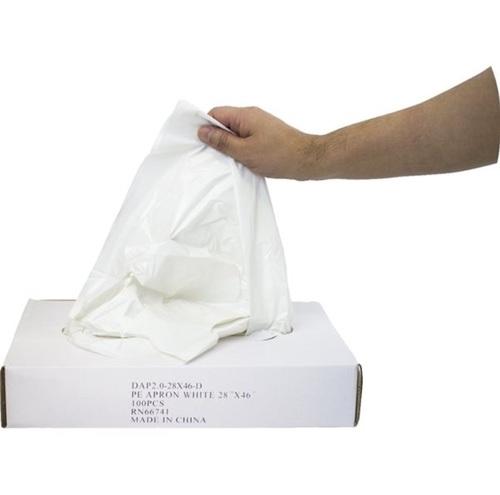 Economy Polyethylene Apron White 28 X 46 100/box