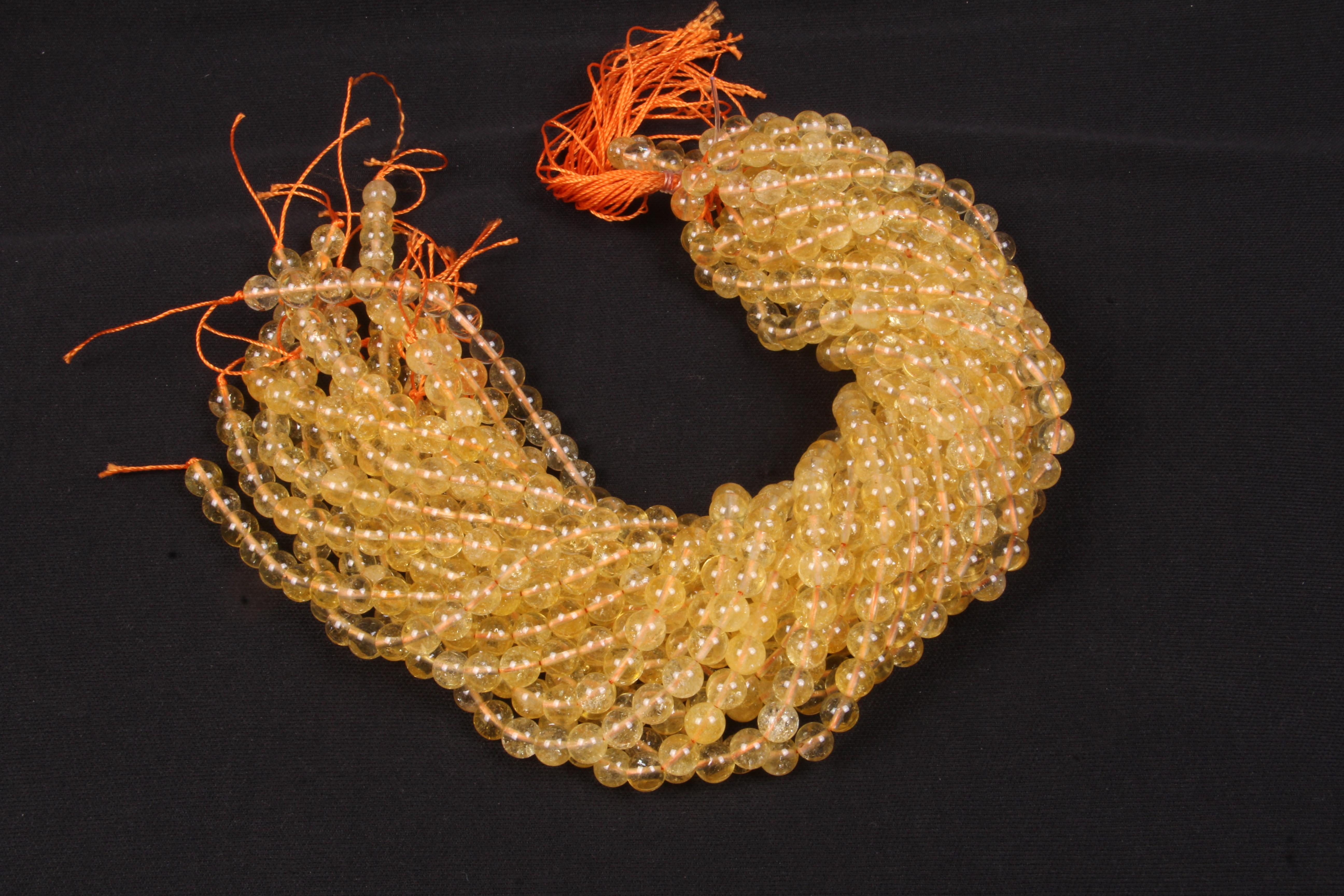 Citrine 8 MM  Beads