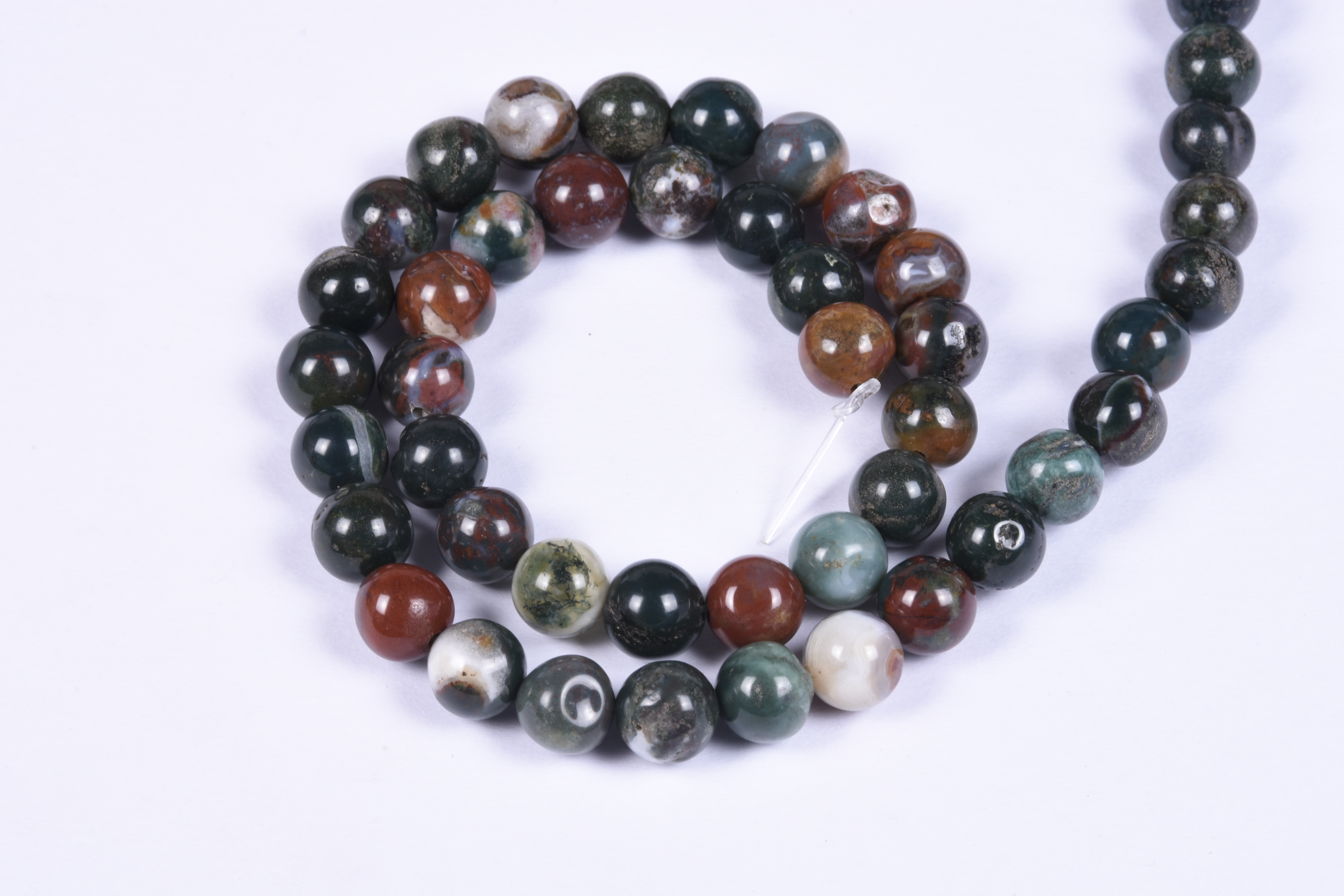 Natural Bloodstone Beads
