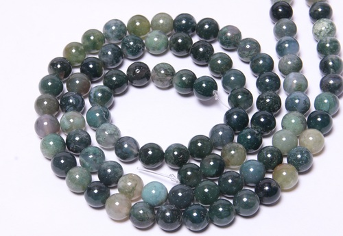 Moss Agate 8 MM Beads