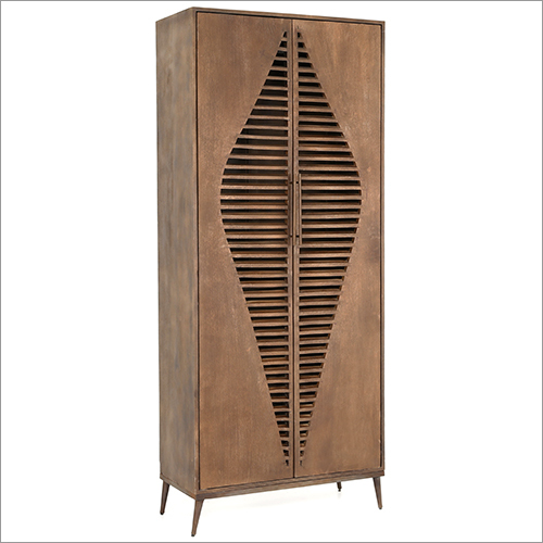 WOODEN CABINET WITH ARCHITECTURAL SHAPE
