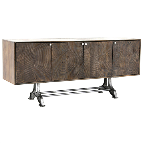 IRON WOODEN SIDEBOARD