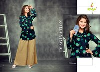 Rayon printed tops